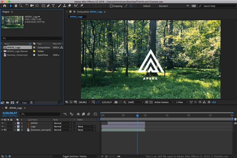 Download Adobe After Effects CC 2019 Mac Full Version Crack Gratis