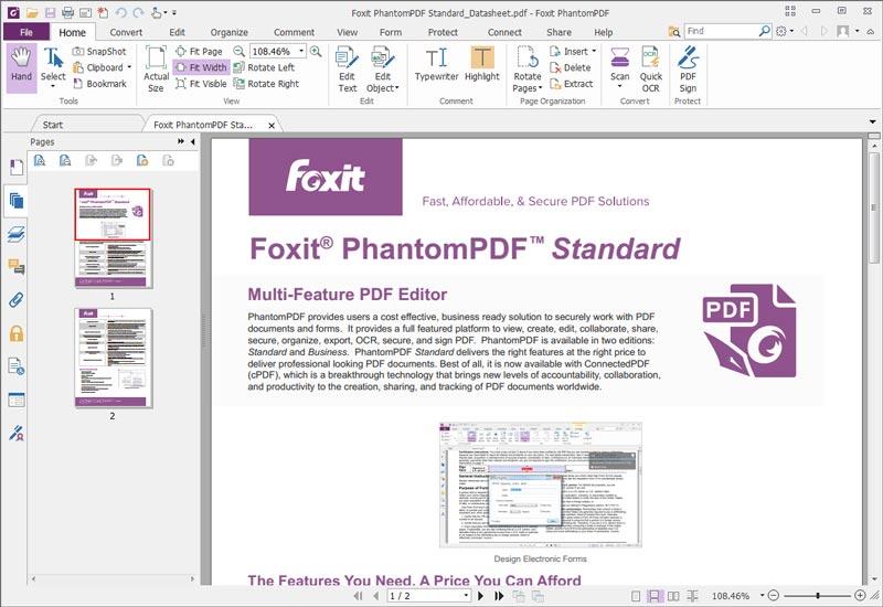 Free Download Foxit Phantom PDF Final Full Version