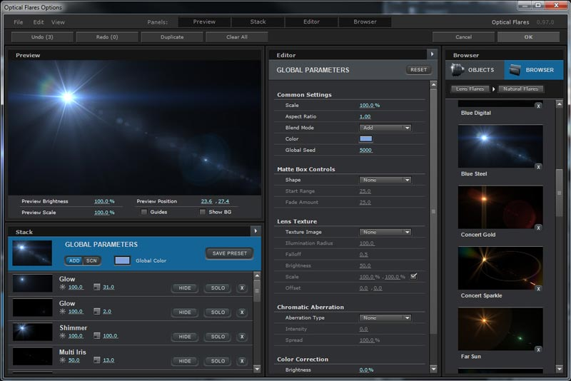 Video Copilot Optical Flare v1.3.5 Download Gratis Full Version