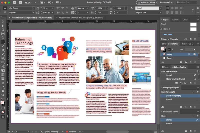 Adobe InDesign CC 2019 MacOSX Free Download