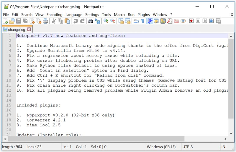 Notepad++ Full Version Free Download