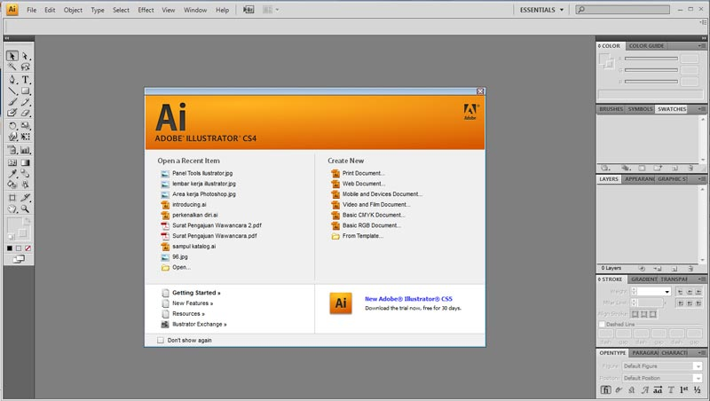 Free Download Adobe Illustrator CS4 Full Crack Gratis