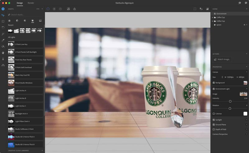 Free Download Adobe Dimension CC 2019 MacOSX Full Version Terbaru