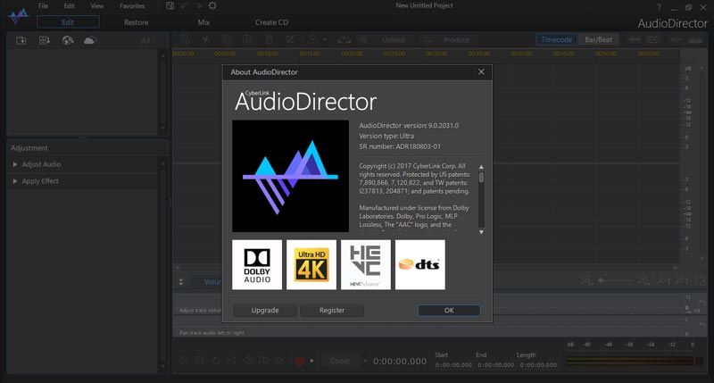 Free Download Cyberlink AudioDirector Ultra Full Crack