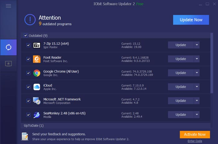 Free Download IObit Software Updater Pro Full Version